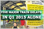 Number of major train delays in Q1 2015 nearly half of 2014's total