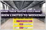 Train testing could have been limited to weekend, says Transport Minister
