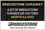 A set of Bridgestone Turanza GR-100 tyres worth $2,000 to be won!