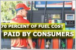 70 percent of fuel cost passed to consumers