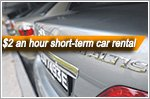 Tribecar offers $2 an hour short-term car rental and paid rides for hirers