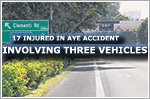 17 people hurt in three-vehicle accident on AYE