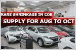 Fewer COEs to bid for from August to October