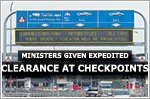 ICA: Normal practice for ministers to have expedited clearance at checkpoints