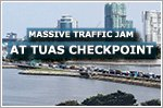 Two canopies fall, causing a massive traffic jam at Tuas Checkpoint