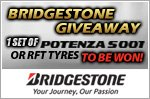 A set of Bridgestone Potenza S001/Run-Flat tyres worth $2,400 to be won!