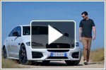 Nicholas Hoult takes on Smart Cone Challenge in Jaguar XF
