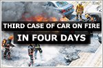 Three cases in four days of cars on fire
