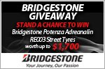 A set of Bridgestone Potenza Adrenalin RE003 tyres to be won!