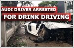 Audi driver arrested for drink driving accident along Bras Basah Road