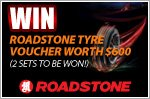 $600 worth of Roadstone vouchers to be won!