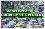 Car COE supply to grow by 11.6 percent for February to April quota period
