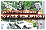 Cable ties used on barriers 'to avoid disrupting parking system'