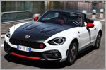 Abarth showcases 124 spider heritage at the London Classic Car Show