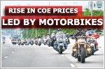 Rise in COE premiums led by motorcycle category