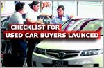 Checklist for used vehicle buyers launched