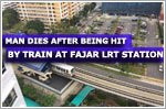 Man dies after being hit by train at Fajar LRT station