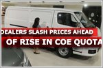 Dealers slash prices ahead of rise in COE quota