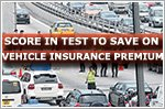Score in test to save on vehicle insurance premium