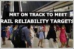 MRT network on track to meet rail reliability targets: LTA