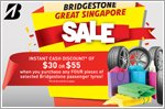 Bridgestone exclusive deals for the Great Singapore Sale