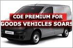 COE premium for goods vehicles soars