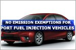 No emission exemptions for port fuel injection vehicles