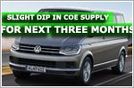 Slight dip in COE supply for next three months