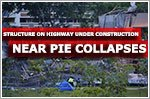 Structure on highway under construction collapses near PIE