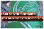Grab driver suspended for driving into schoolboy
