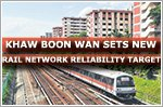 Khaw Boon Wan sets new rail network reliability target