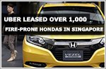 Uber leased more than 1,000 fire-prone Honda cars in Singapore