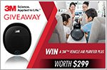 3M Vehicle Air Purifier Plus to be won!