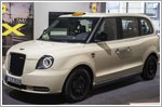 London EV Company's TX six-seater taxi makes premiere in Europe
