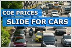 COE prices slide for cars and motorcycles but rise for commercial vehicles