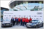 FC Bayern Munchen receives new Audi models