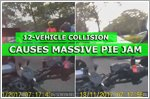 12-vehicle collision along PIE causes massive jam