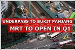 Underpass to Bukit Panjang MRT station to open in Q1