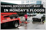 Towing services kept busy in Monday's floods