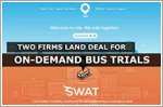 Two firms land deal to conduct on-demand bus trials