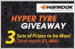 Hankook tyre vouchers worth up to $1,000 to be won
