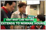 Delays expected on East-West Line as testing extends to normal hours