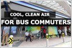 An oasis of cool, clean air for bus commuters