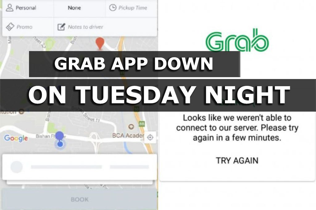 Grab's mobile app down for several hours on Tuesday night