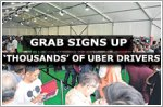Grab has signed up 'thousands' of Uber drivers