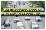 May to July COE quota to shrink by 4% as zero-growth policy continues