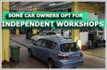 Some car owners opt for independent workshops