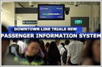 Downtown Line to trial system showing how full train cars are