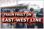 Train fault on East-West Line a day after North-South Line delays
