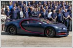 Bugatti is celebrating the production and delivery of the 100th Chiron